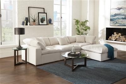 Posh 3 Piece Sectional in Porcelain Fabric by Jackson Furniture - 4445-3-P