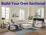 Posh Porcelain Fabric BUILD YOUR OWN Sectional by Jackson Furniture - 4445-BYO-P