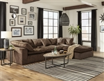 Plush 3 Piece Sectional Sofa in Mocha Fabric by Jackson Furniture - 4446-03-M