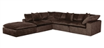 Plush 5 Piece Sectional in Mocha Fabric by Jackson Furniture - 4446-05-M