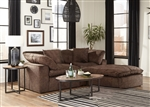 Plush 2 Piece Sectional Sofa in Mocha Fabric by Jackson Furniture - 4446-2-M