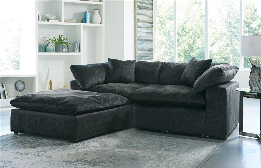 Plush 2 Piece Sectional Sofa In Smoke