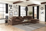 Plush 4 Piece Sectional in Mocha Fabric by Jackson Furniture - 4446-4-M