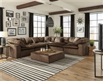 Plush 5 Piece Fabric Sectional by Jackson Furniture - 4446-5