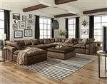 Plush 6 Piece Fabric Sectional by Jackson Furniture - 4446-6