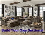 Plush Mocha Fabric BUILD YOUR OWN Sectional by Jackson Furniture - 4446-BYO-M