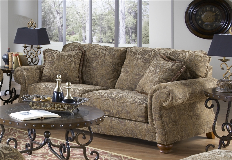 Bellingham Sofa Sleeper In Antique Fabric By Jackson Furniture   4448 04
