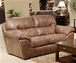 Grant Loveseat in Silt Leather by Jackson Furniture - 4453-02-S