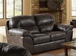 Grant Loveseat in Steel Leather by Jackson Furniture - 4453-02-ST
