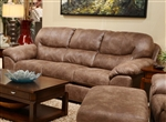 Grant Sofa Sleeper in Silt Leather by Jackson Furniture - 4453-04-S