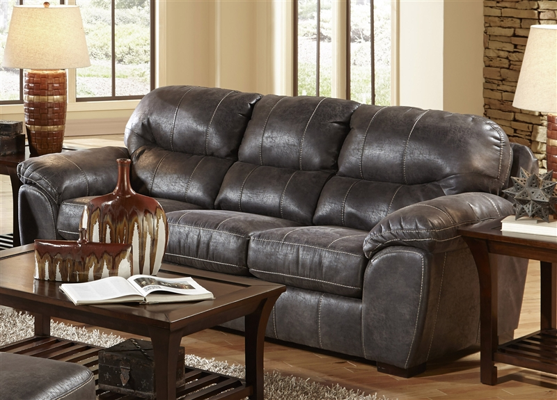 Grant Sofa Sleeper In Steel Leather By Jackson Furniture 4453 04 St