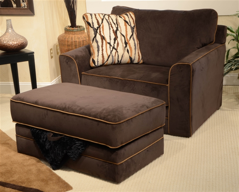Coronado oversized chair in chocolate fabric by jackson for Oversized chair