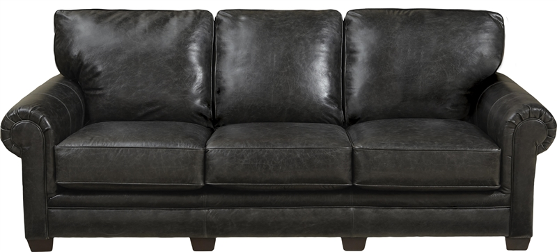 Channing Sofa In Stone Leather By