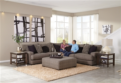 Ava 3 Piece Sectional with USB Port in Pepper Fabric by Jackson Furniture - 4498-USBS-P