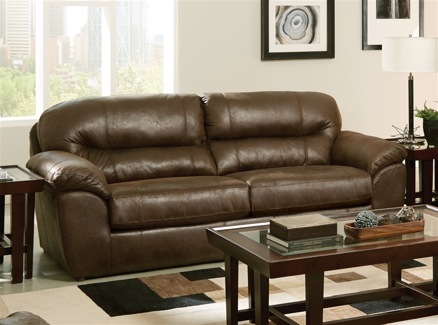 Bradshaw Sofa in Mink Faux Leather Fabric by Jackson Furniture - 4530-03