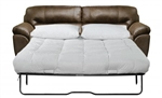 Bradshaw Queen Sleeer Sofa in Mink Faux Leather Fabric by Jackson Furniture - 4530-04