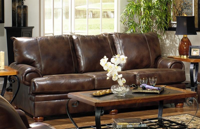 "Stetson Sofa in Espresso ""Leather-Like"" Durable Microfiber by Jackson  Furniture - 493-03"