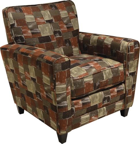 Sensational Coronado Accent Chair In Brown Pattern Fabric By Jackson 721 27 B Gmtry Best Dining Table And Chair Ideas Images Gmtryco
