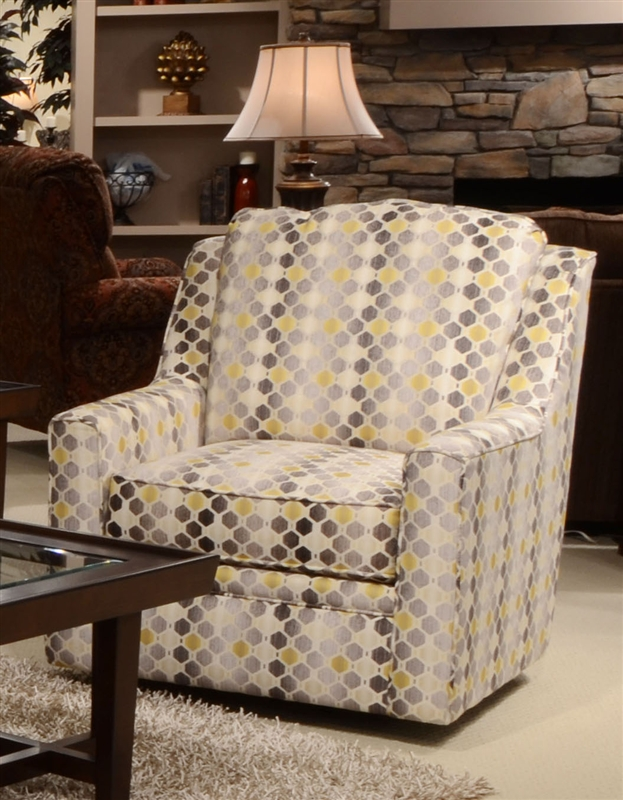 Sutton Accent Swivel Chair In Quot Cobblestone Quot Canary