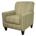 Zachary Accent Chair in Lemon Lime Fabric by Jackson - 742-27-C