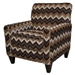 Zachary Accent Chair in Tobacco Fabric by Jackson - 742-27-M