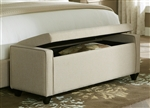 Storage Bench in Natural Linen Fabric by Liberty Furniture - LIB-100-BR47