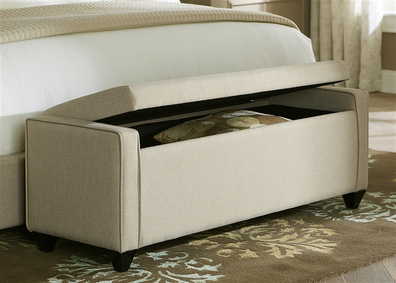 Storage Bench In Natural Linen Fabric By Liberty Furniture   LIB 100 BR47