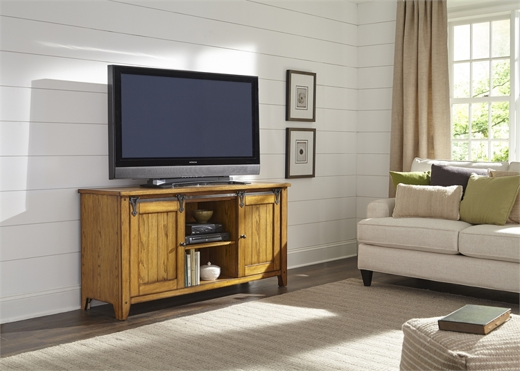 Lake House 60 Inch TV Console In Oak Finish By Liberty Furniture   110 TV60