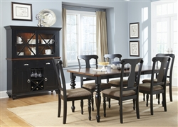Abbey Court Splat Back Chairs 5 Piece Dining Set in Black and Cherry Finish by Liberty Furniture - LIB-111-T3872