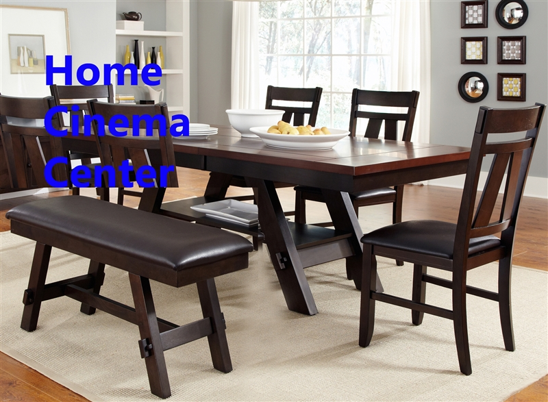 Wondrous Lawson 6 Piece Dining Set In Espresso Two Tone Finish By Liberty Furniture Lib 116 T4090 Squirreltailoven Fun Painted Chair Ideas Images Squirreltailovenorg