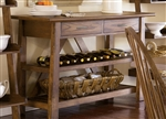 Farmhouse Server in Weathered Oak Finish by Liberty Furniture - 139-SR5536