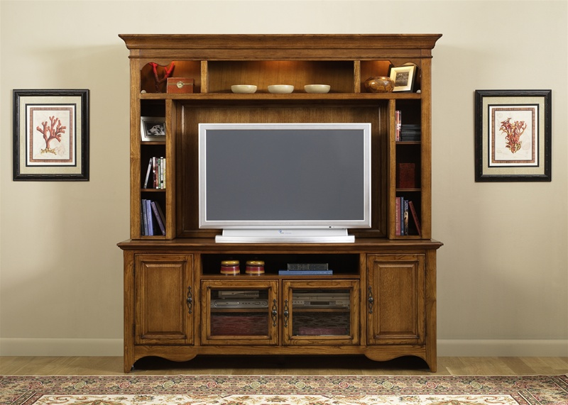 New Generation 50 Inch TV Entertainment Center In Medium Oak Finish By  Liberty Furniture   140 ENT