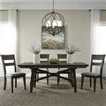 Double Bridge Trestle Table 5 Piece Dining Set in Dark Chestnut Finish by Liberty Furniture - 152-CD-5TRS