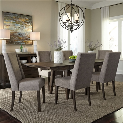 Double Bridge Trestle Table 7 Piece Dining Set in Dark Chestnut Finish by Liberty Furniture - 152-CD-O7TRS