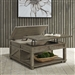 Parkland Falls Square Lift Top Cocktail Table in Weathered Taupe Finish by Liberty Furniture - 172-OT