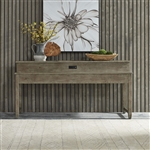 Parkland Falls Console Bar Table in Weathered Taupe Finish by Liberty Furniture - 172-OT7436