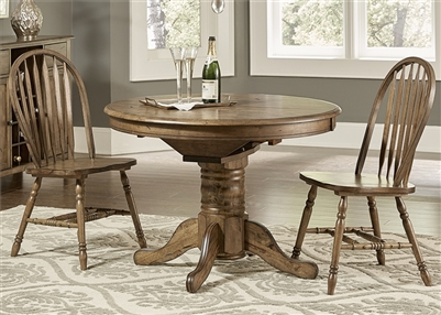 Carolina Crossing Table 3 Piece Dining Set in Antique Honey Finish by Liberty Furniture - 186-CD-3ROS