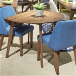 Space Savers Drop Leaf Table 3 Piece Blue Dining Set in Satin Walnut Finish by Liberty Furniture - 198-T4242-B