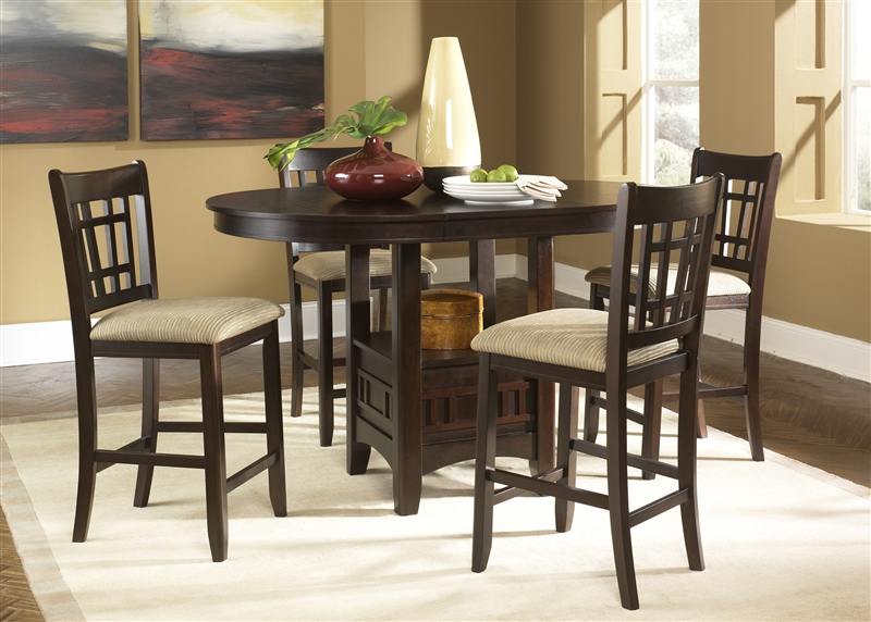 santa rosa pub table 3 piece dining set in merlot finish by liberty furniture 20pub4260