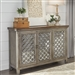 Westridge 3 Door Accent Cabinet in White Dusty Wax Finish and Wire Brushed Gray by Liberty Furniture - 2012-AC5636