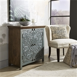 Sahana 2 Door Accent Cabinet in Warm Nutmeg with Grey Finish by Liberty Furniture - 2045-AC3435