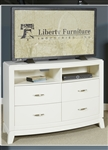 Avalon Media Chest in White Truffle Finish by Liberty Furniture - 205-BR45