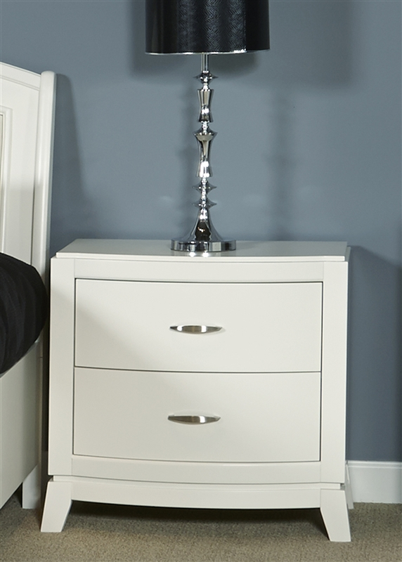 Avalon Nightstand in White Truffle Finish by Liberty Furniture ...