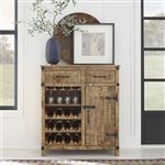 Emerson Wine Accent Cabinet in Weathered Honey Finish by Liberty Furniture - 2080-AC3742