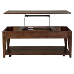 Lake House Lift Top Cocktail Table in Rustic Brown Oak Finish by Liberty Furniture - 210-OT