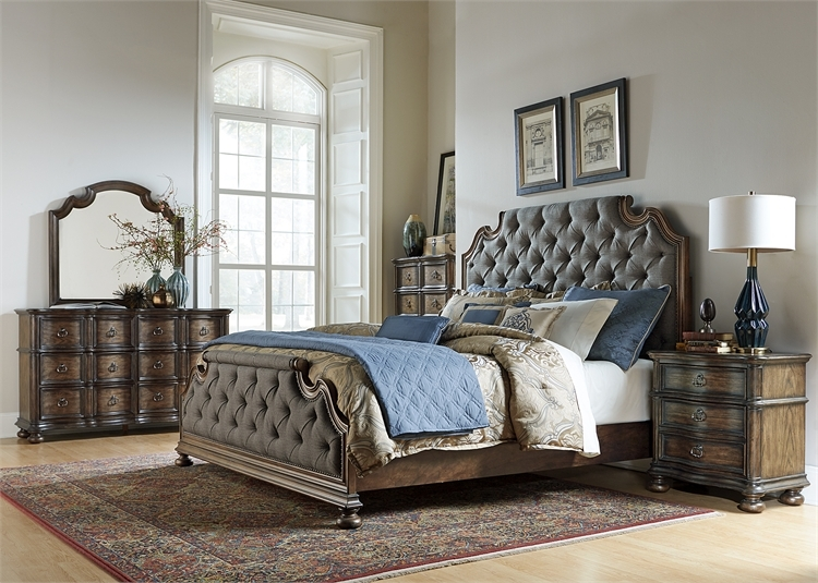 Beautiful Upholstered Bedroom Set Property