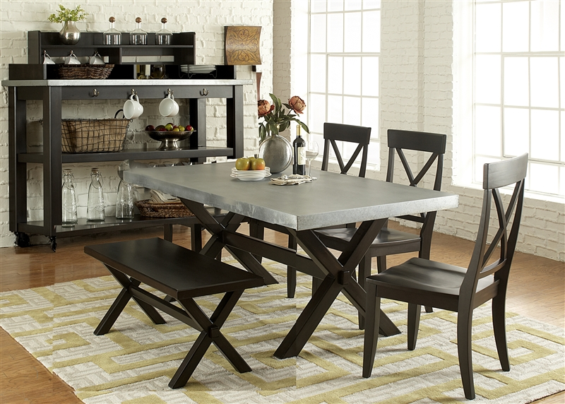6 Piece Dining Set in Charcoal Finish by Liberty Furniture - LIB ...