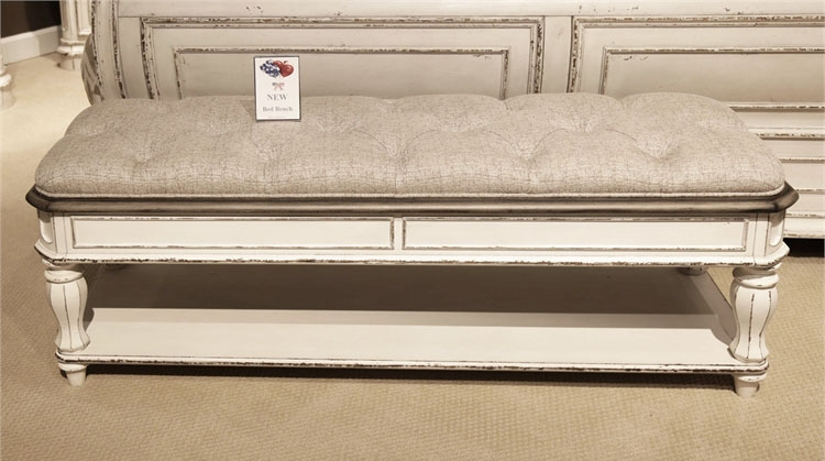 Magnolia Manor Sleigh Bed 6 Piece Bedroom Set In Antique White Finish By  Liberty Furniture   244 BR BQSL