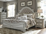 Magnolia Manor Upholstered Bed in Antique White Finish by Liberty Furniture - 244-BR-QUB