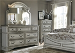 Magnolia Manor 7 Drawer Dresser in Antique White Finish by Liberty Furniture - 244-BR31